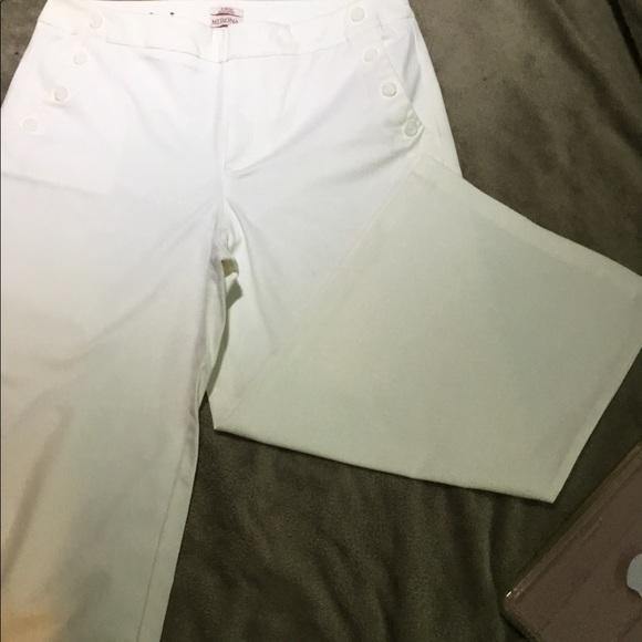 Merona Pants - White button sailor pants